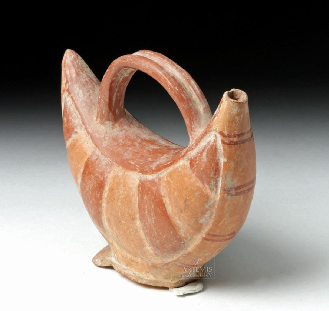 Inca Pottery Bichrome Pacha Vessel - Bean Pod