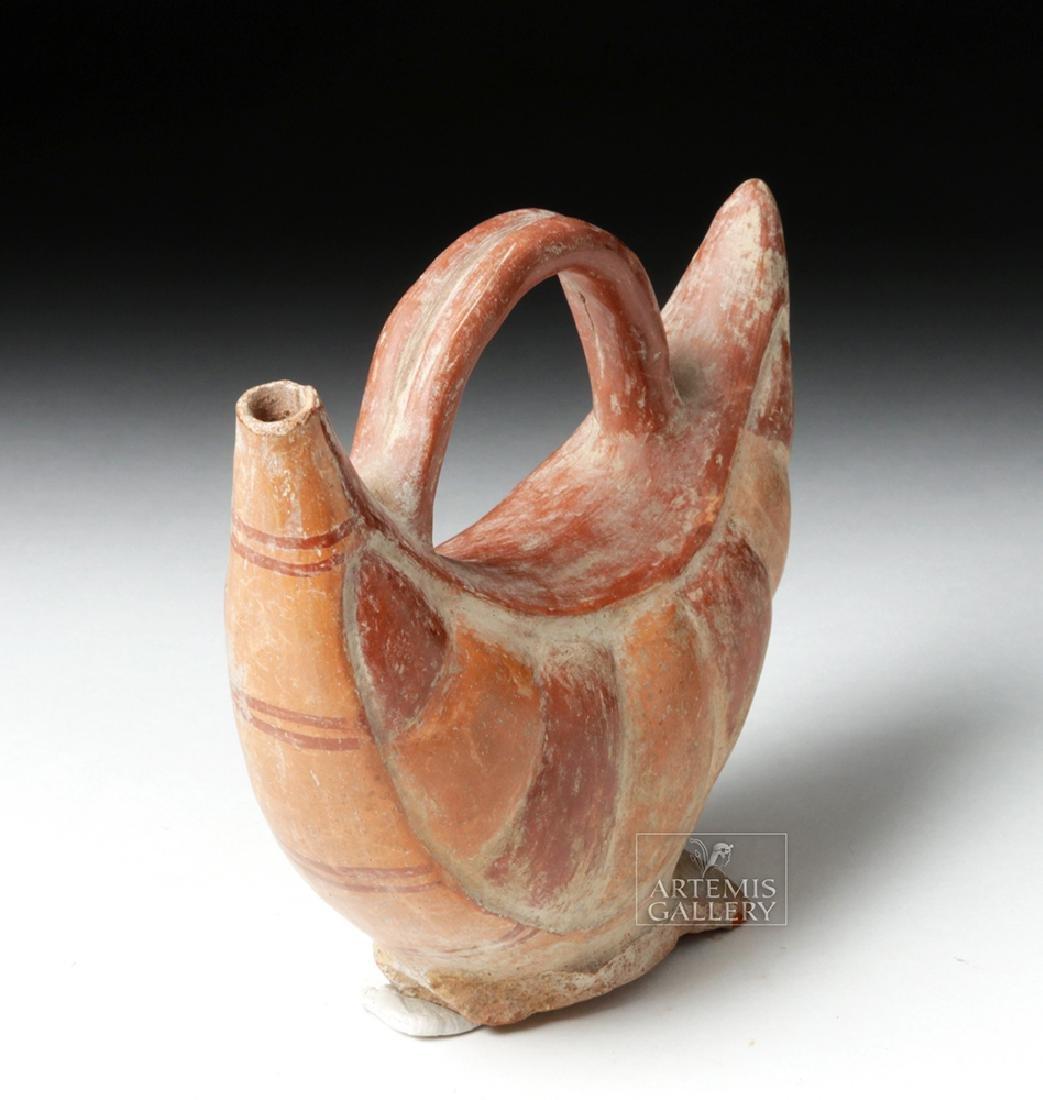 Inca Pottery Bichrome Pacha Vessel - Bean Pod - 5