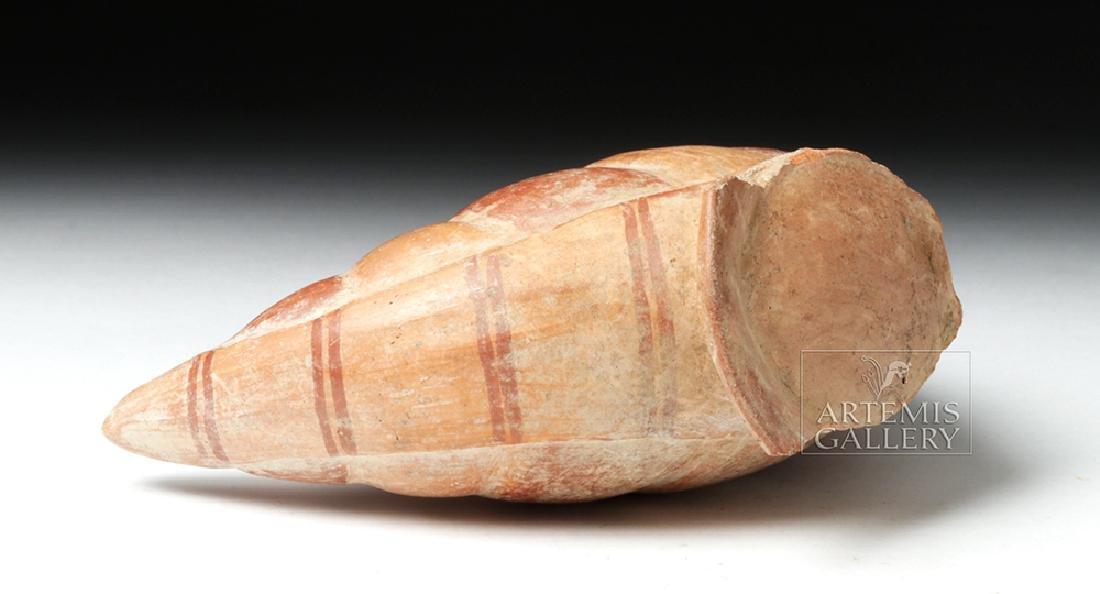 Inca Pottery Bichrome Pacha Vessel - Bean Pod - 6