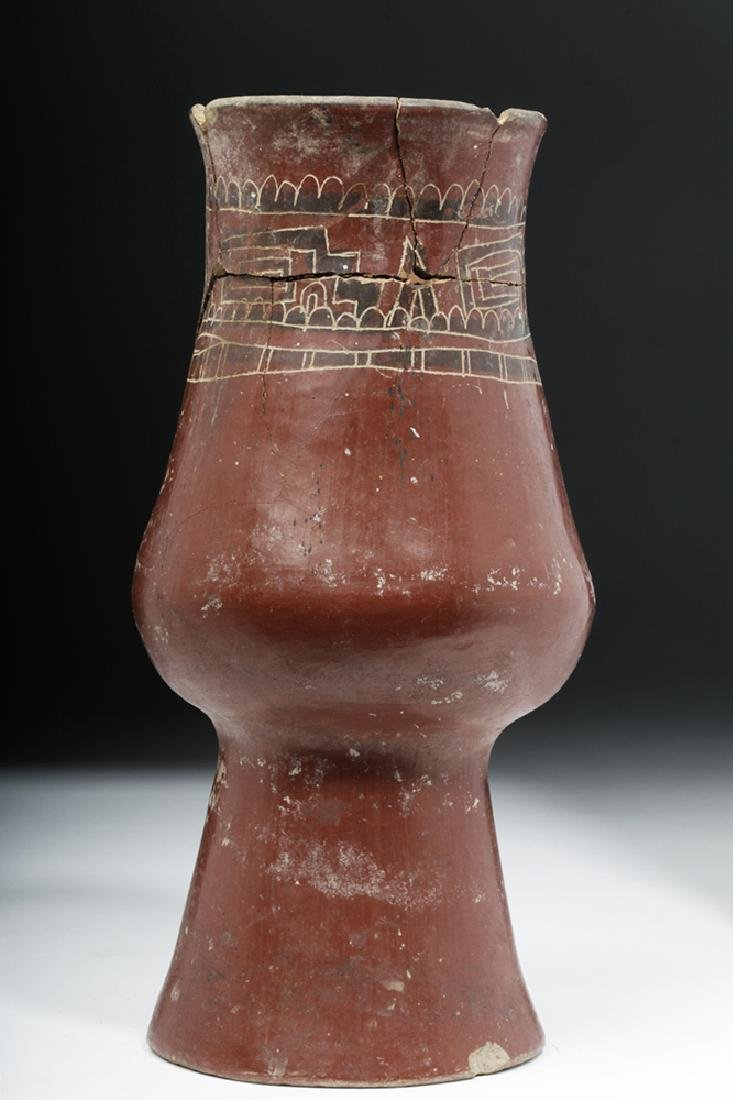 Mixtec Redware Pottery Jar - Abstract Geometric Motif
