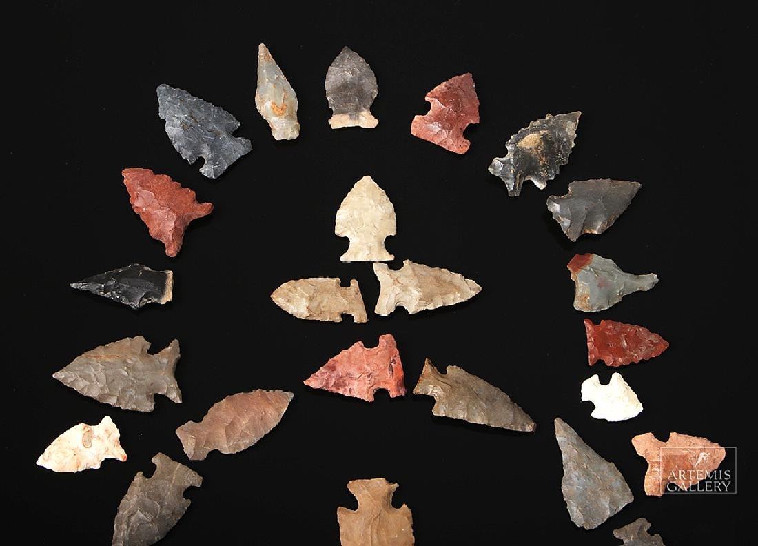 "Fifty Native American Chert Projectile ""Bird Points"" - 3"