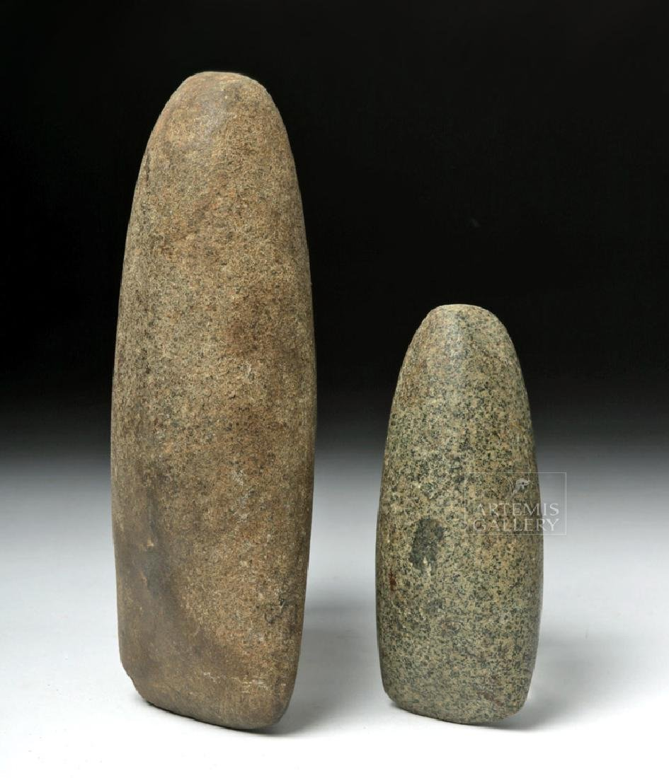Pair of Native American Stone Celts