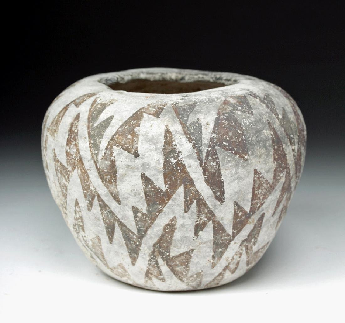 Anasazi Roosevelt Black-on-White Pottery Seed Bowl