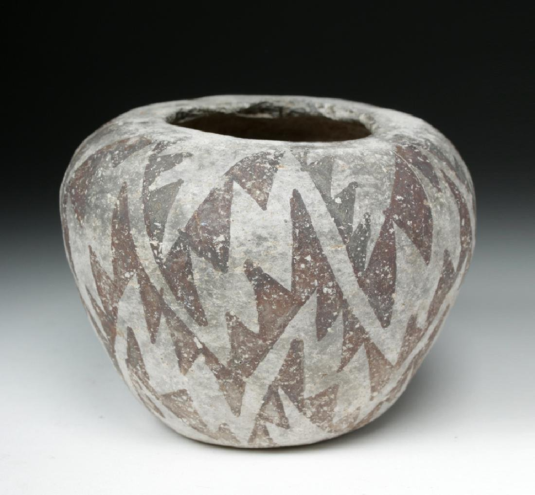 Anasazi Roosevelt Black-on-White Pottery Seed Bowl - 2
