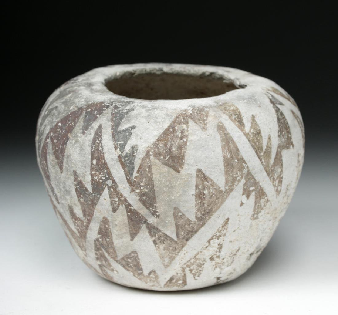 Anasazi Roosevelt Black-on-White Pottery Seed Bowl - 4