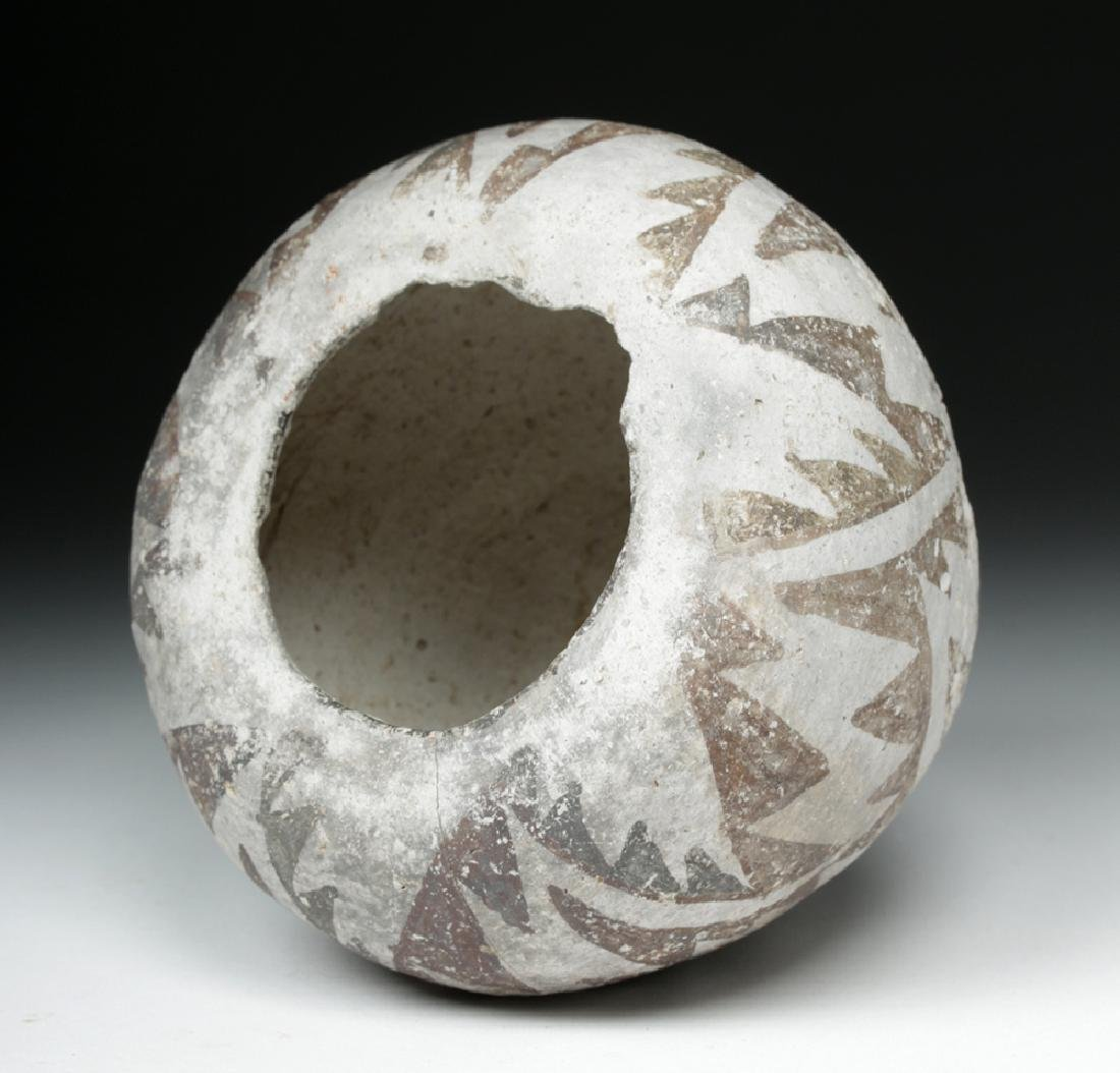 Anasazi Roosevelt Black-on-White Pottery Seed Bowl - 5