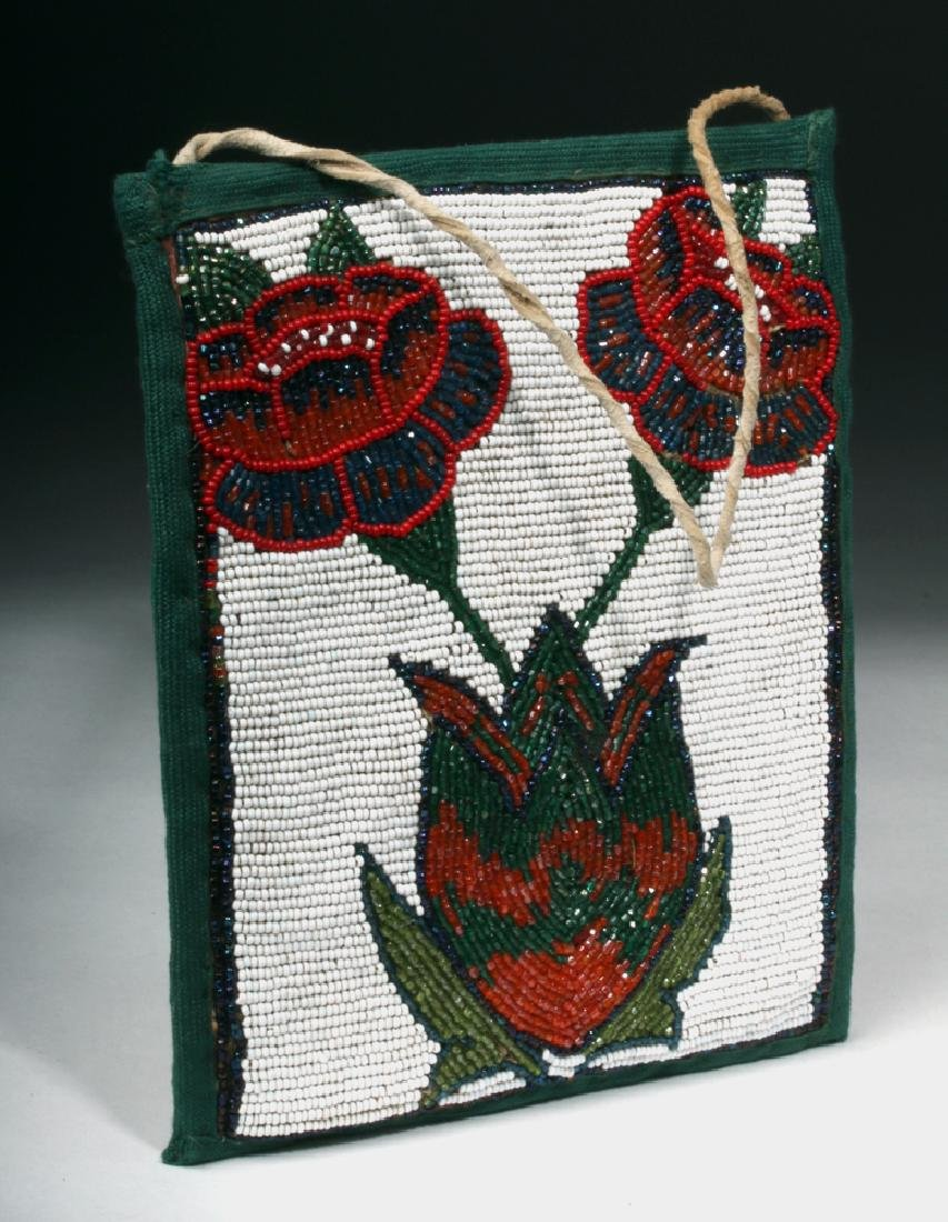 Yakima Plateau Native American Beaded Bag Section