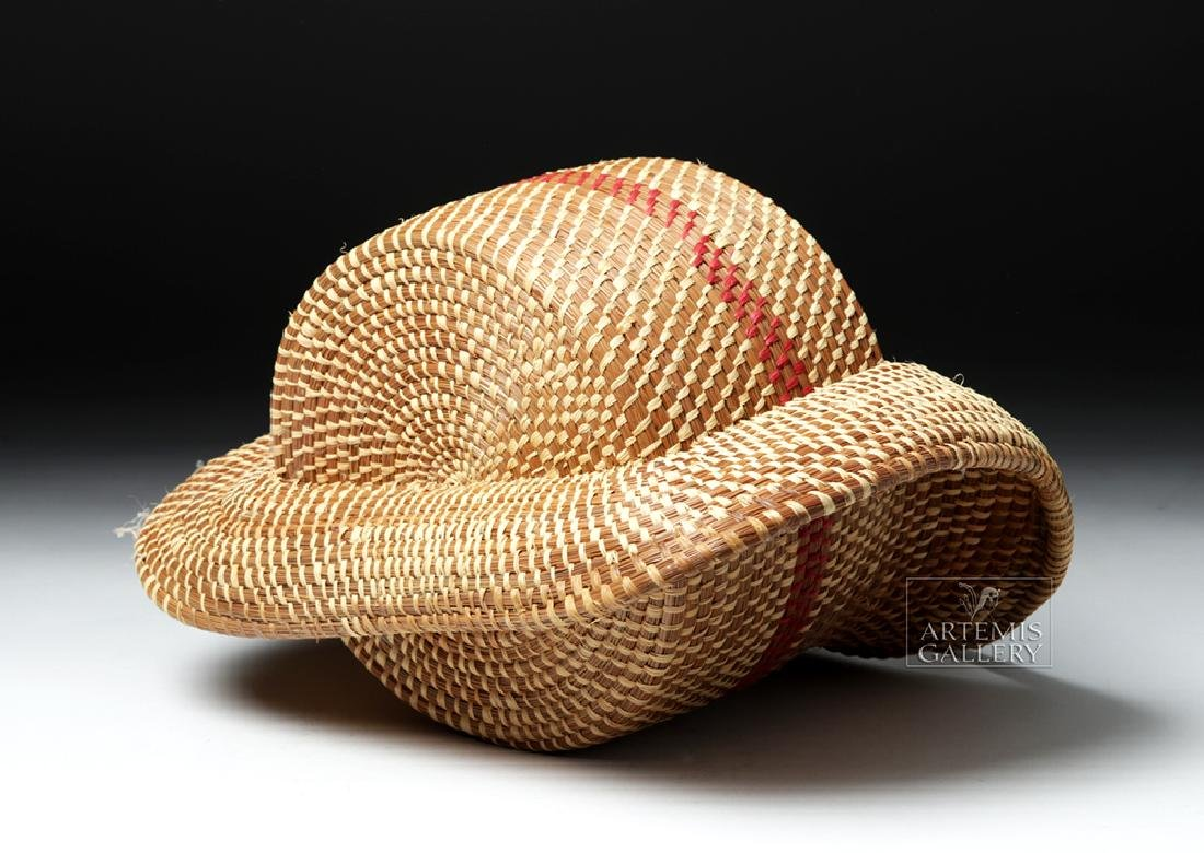 20th C Native American Pine Needle Basket, W. Sylestine - 7