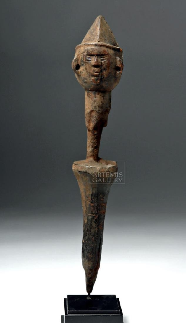 Early 20th C. African Bamana Wooden Puppet Head