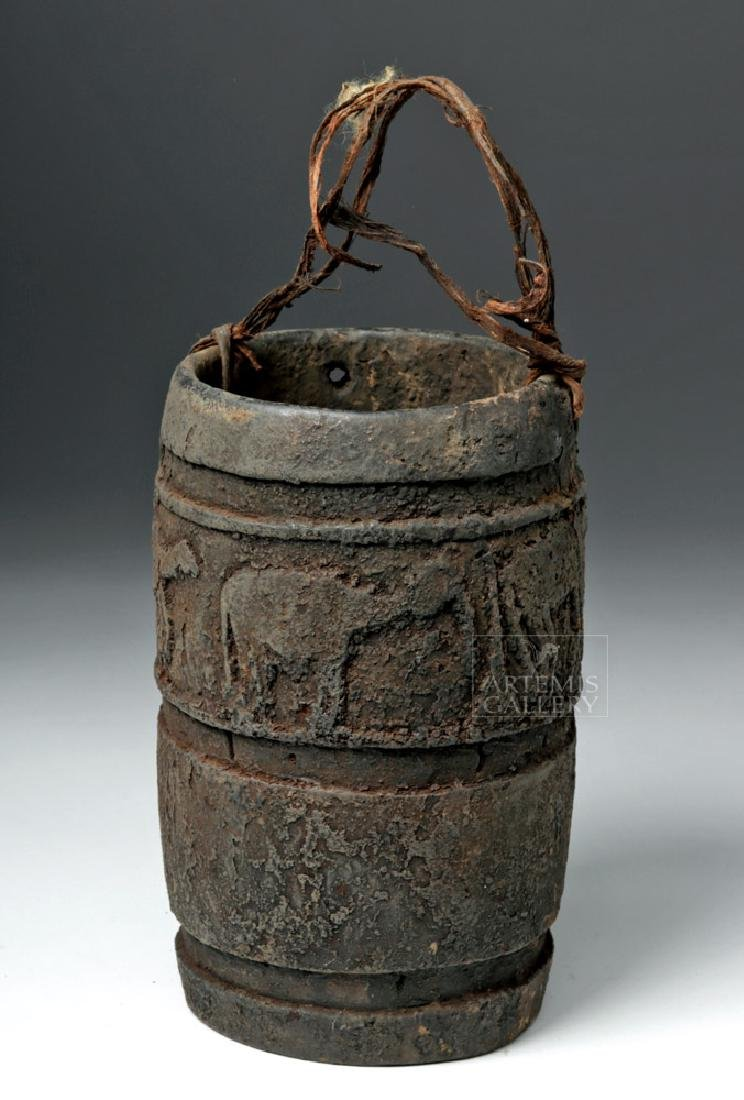 Early 20th C East African Wooden Ritual Container