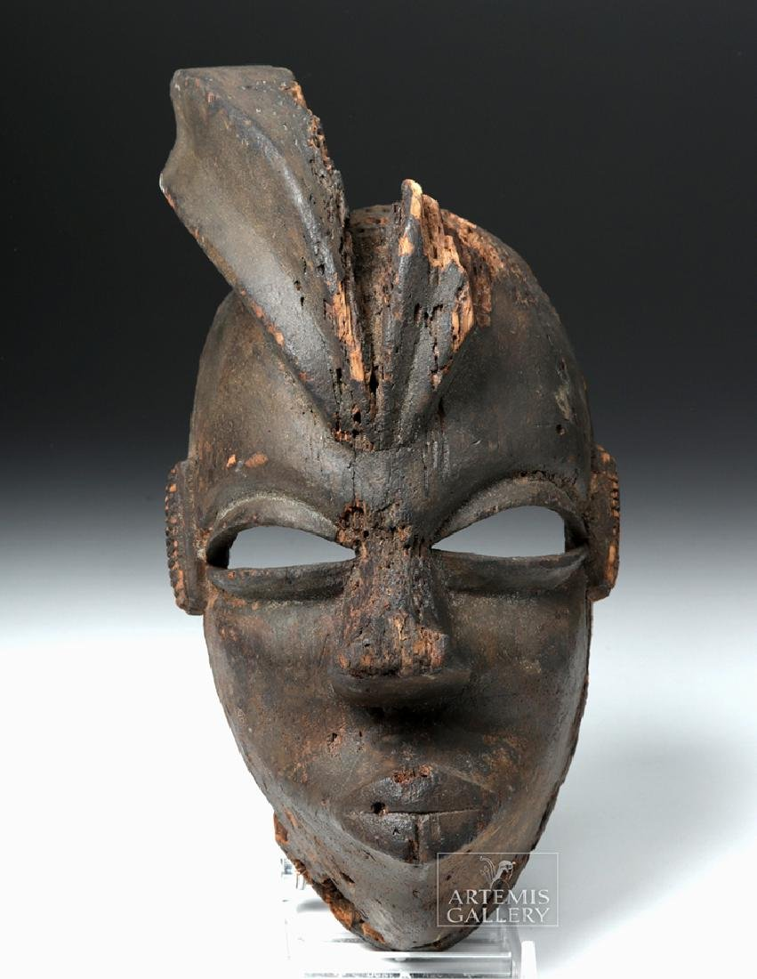 Mid-20th C. African Ogoni Wooden Karikpo Mask