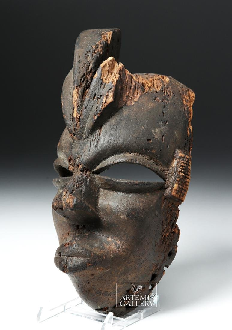 Mid-20th C. African Ogoni Wooden Karikpo Mask - 2