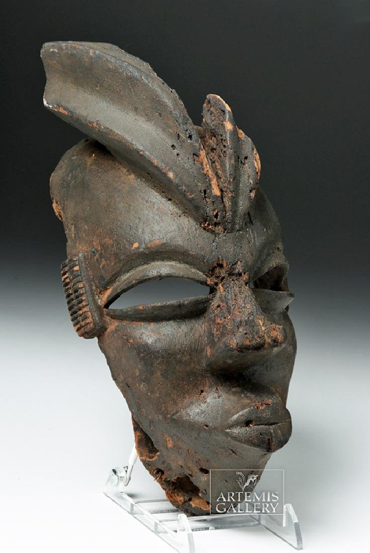 Mid-20th C. African Ogoni Wooden Karikpo Mask - 3