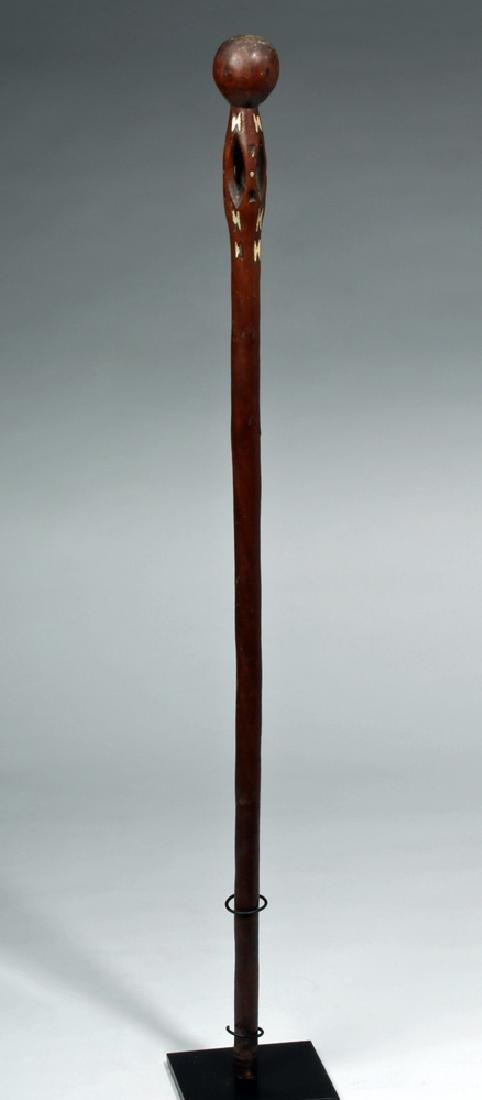 19th C. Solomon Islands Wooden Chief's Staff