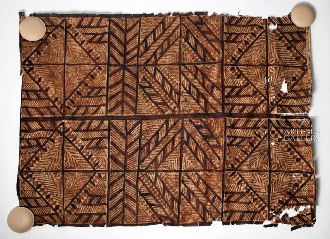 Early 20th C. Oceanic Bark Cloth / Siapo, Nice Design