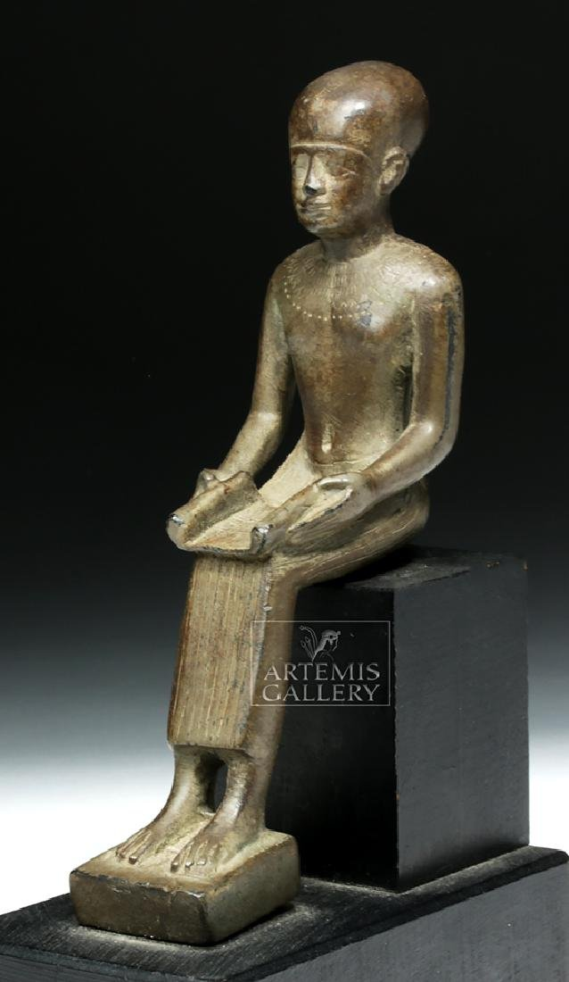 Grand Tour Egyptian Bronze Seated - Architect Imhotep