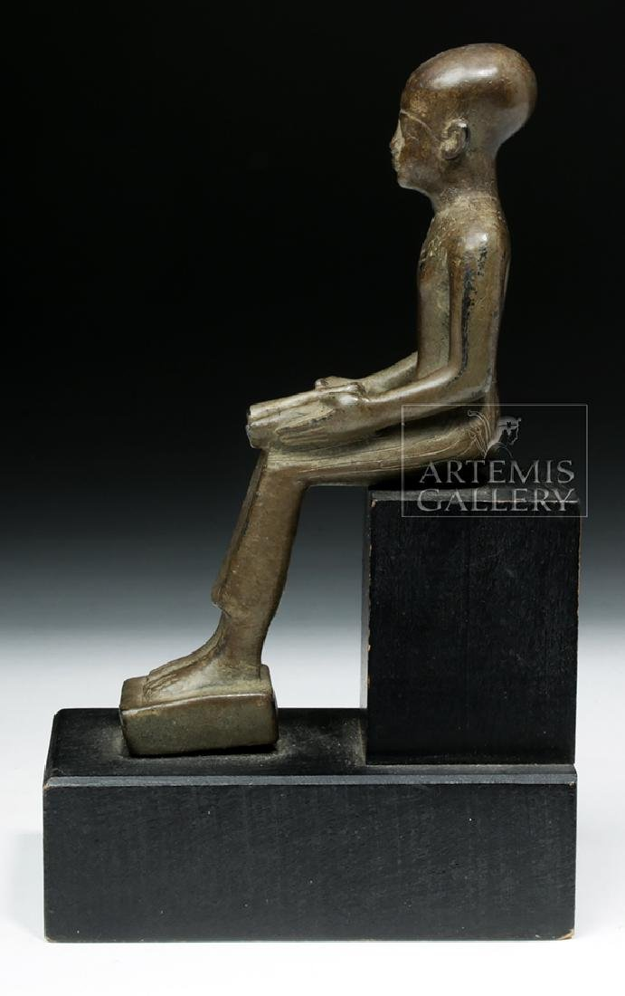 Grand Tour Egyptian Bronze Seated - Architect Imhotep - 3
