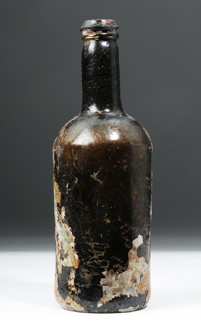 1780s Scottish Glass Bottle - Shipwreck Patina - 3