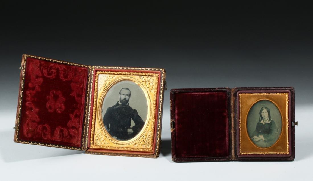 19th C. Tintype + Ambrotype - Leather Cases