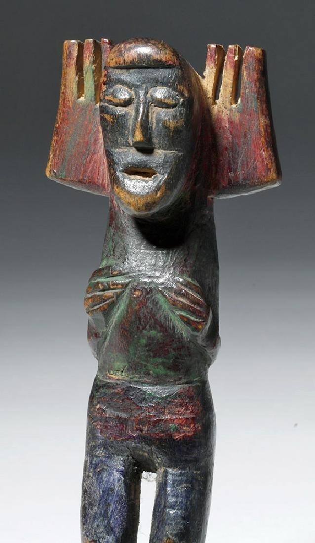 Early 20th C. Guatemalan Painted Wood Slingshots (2) - 2