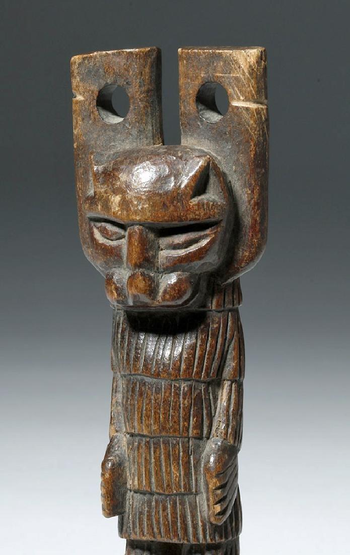 Early 20th C. Guatemalan Painted Wood Slingshots (2) - 3