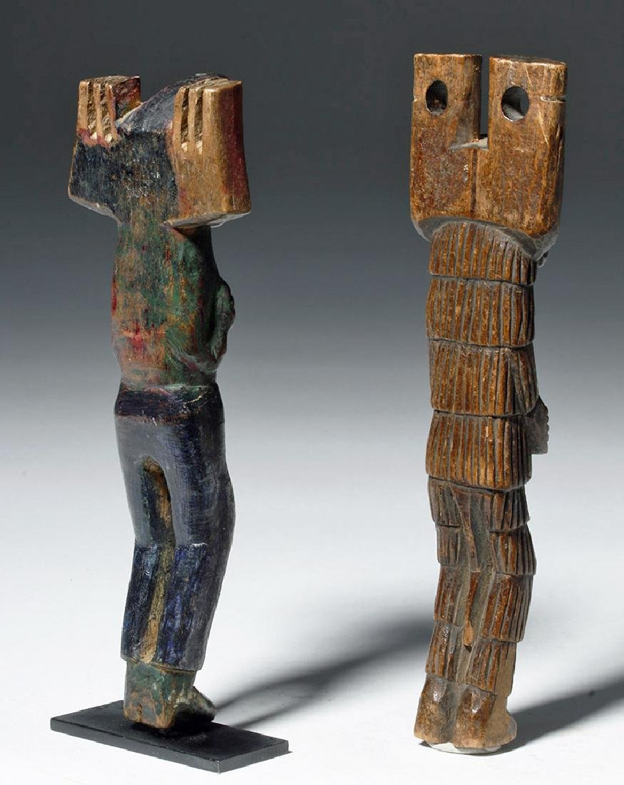 Early 20th C. Guatemalan Painted Wood Slingshots (2) - 5