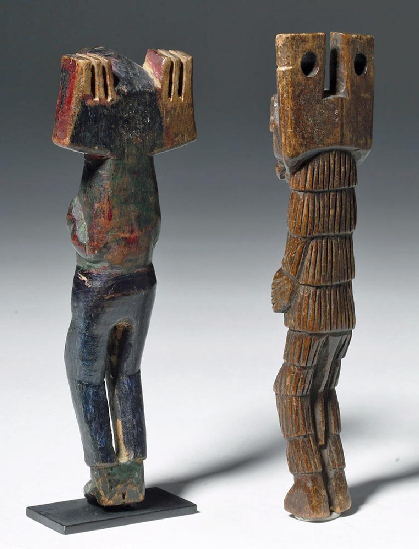 Early 20th C. Guatemalan Painted Wood Slingshots (2) - 6