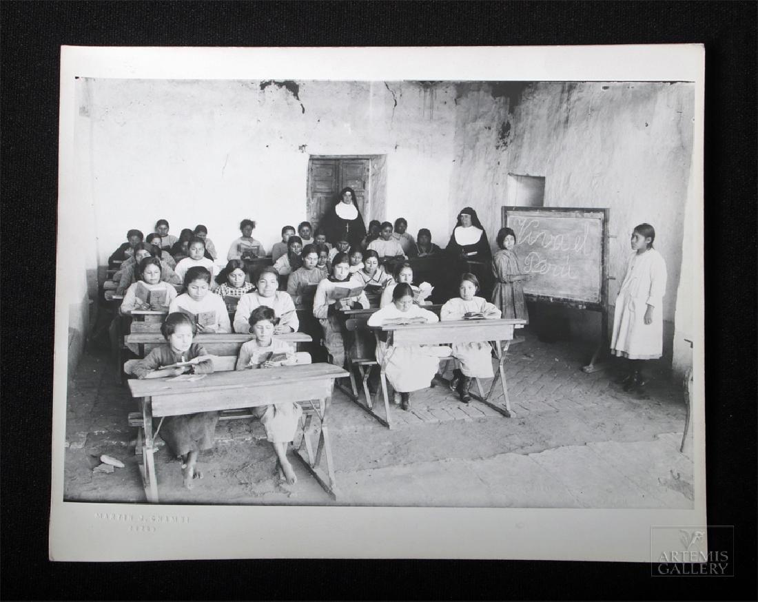 Early 20th C. Martin Chambi Cuzco Peru Classroom Photo