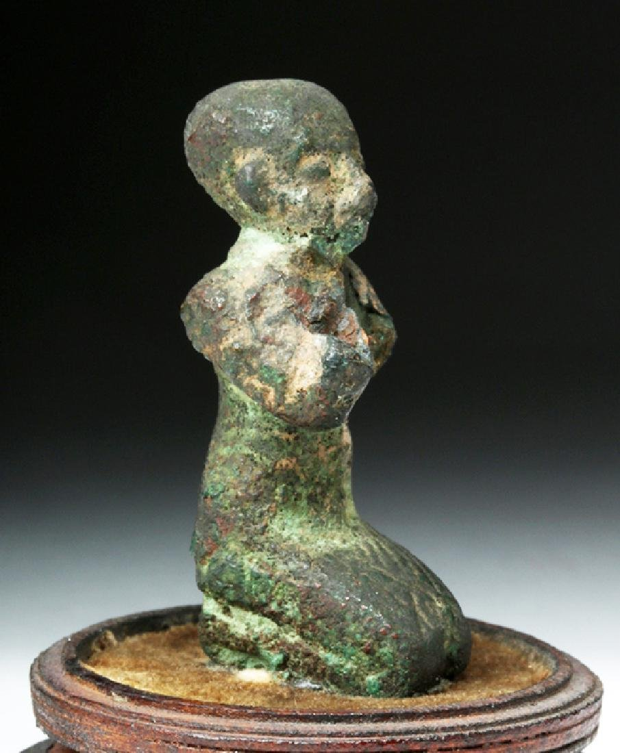 Egyptian Bronze of a Kneeling Priest