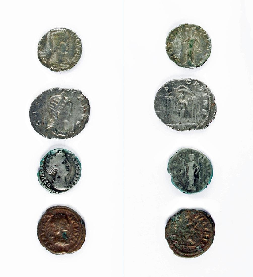 Lot of Four Roman Imperial Silver Coins