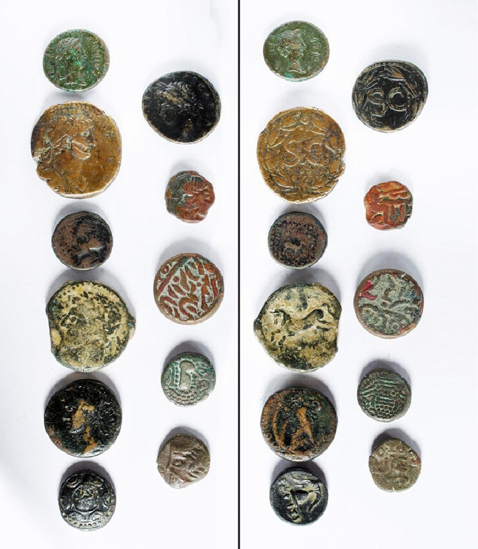 Lot of 11 Ancient Bronze Coins - Mostly Greek