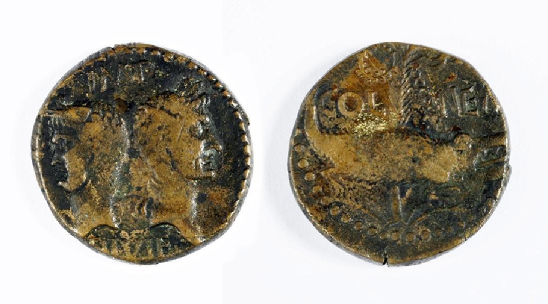 Bronze Dupondius of Octavian