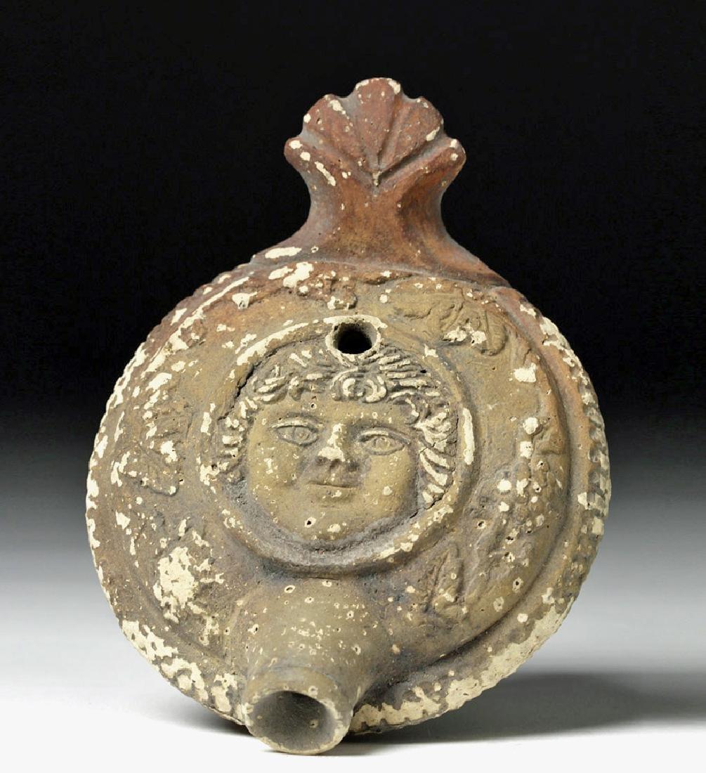 Roman Pottery Guttos - Minerva