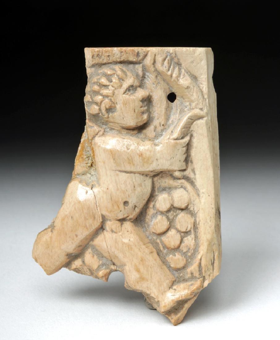 Rare Roman Bone Carving of Cupid
