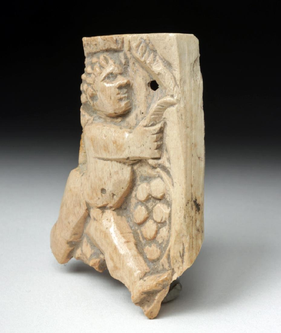 Rare Roman Bone Carving of Cupid - 2