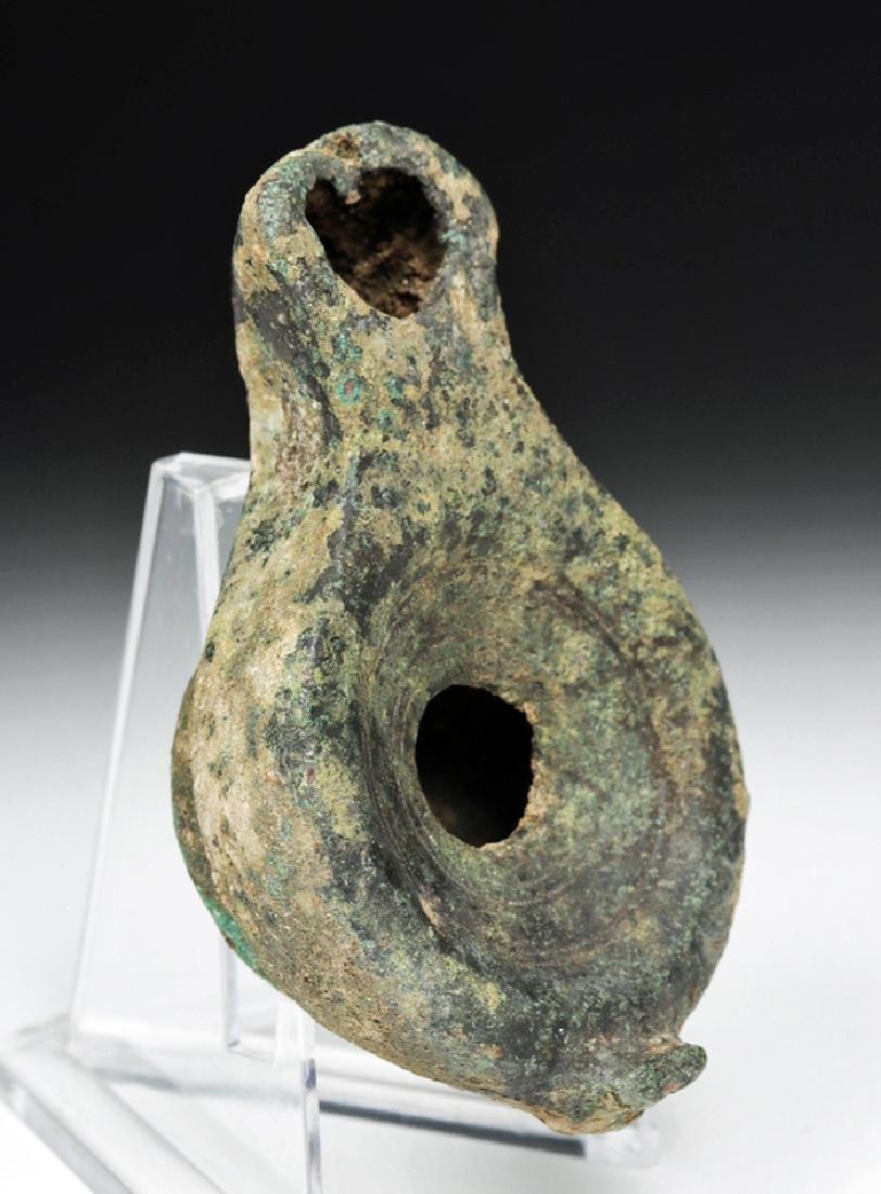 Roman Imperial Bronze Oil Lamp - 3