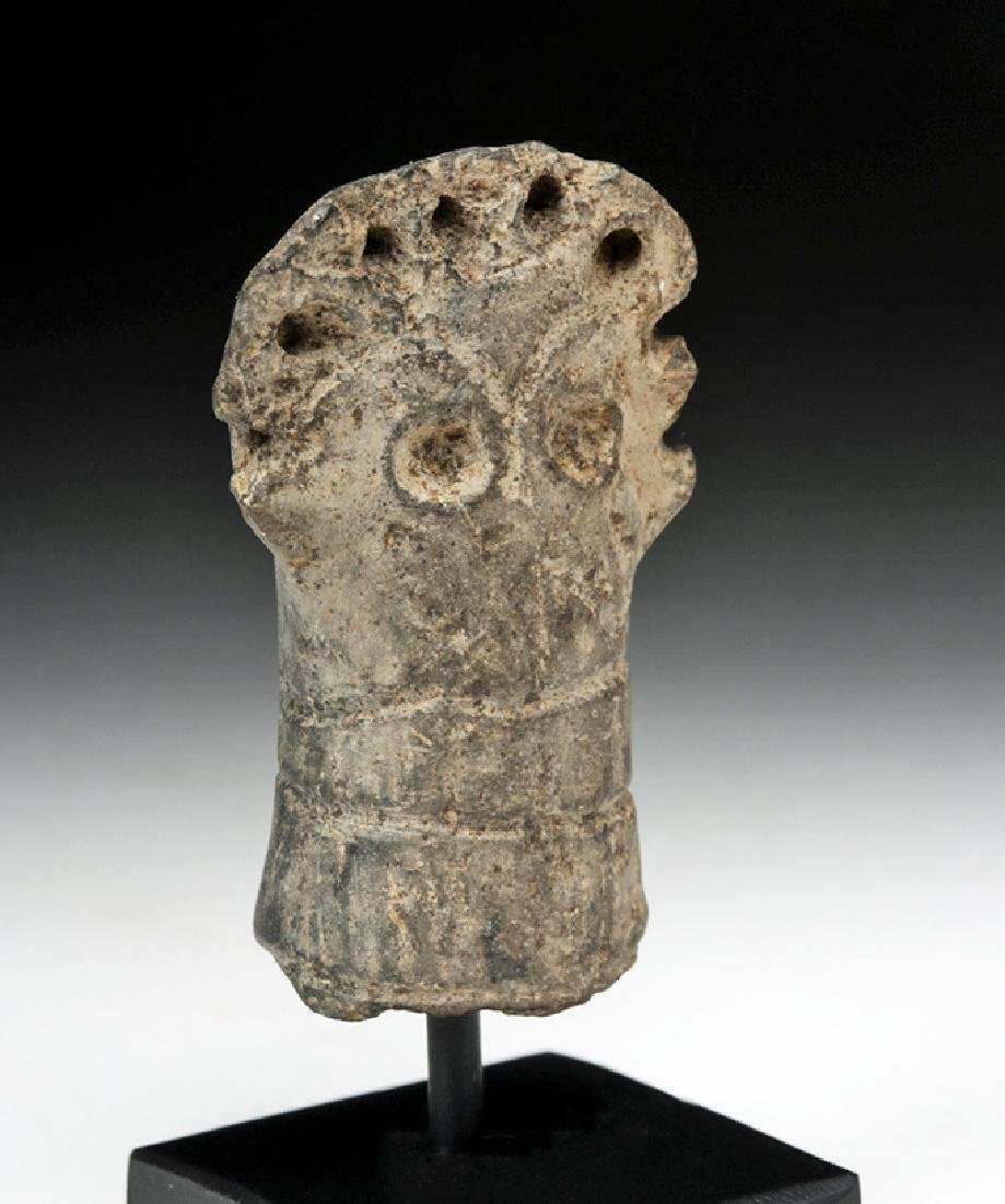Rare Syro-Hittite Pottery Idol Head - 5
