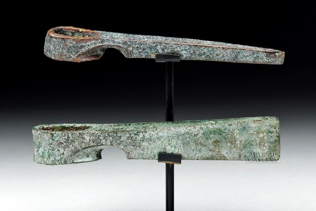 Lot of 2 Canaanite Bronze Axe Heads