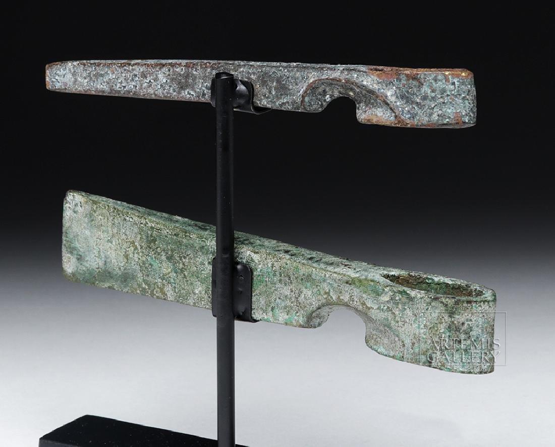 Lot of 2 Canaanite Bronze Axe Heads - 3