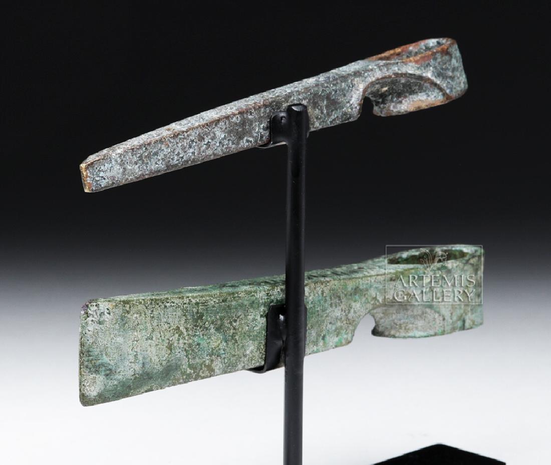 Lot of 2 Canaanite Bronze Axe Heads - 4