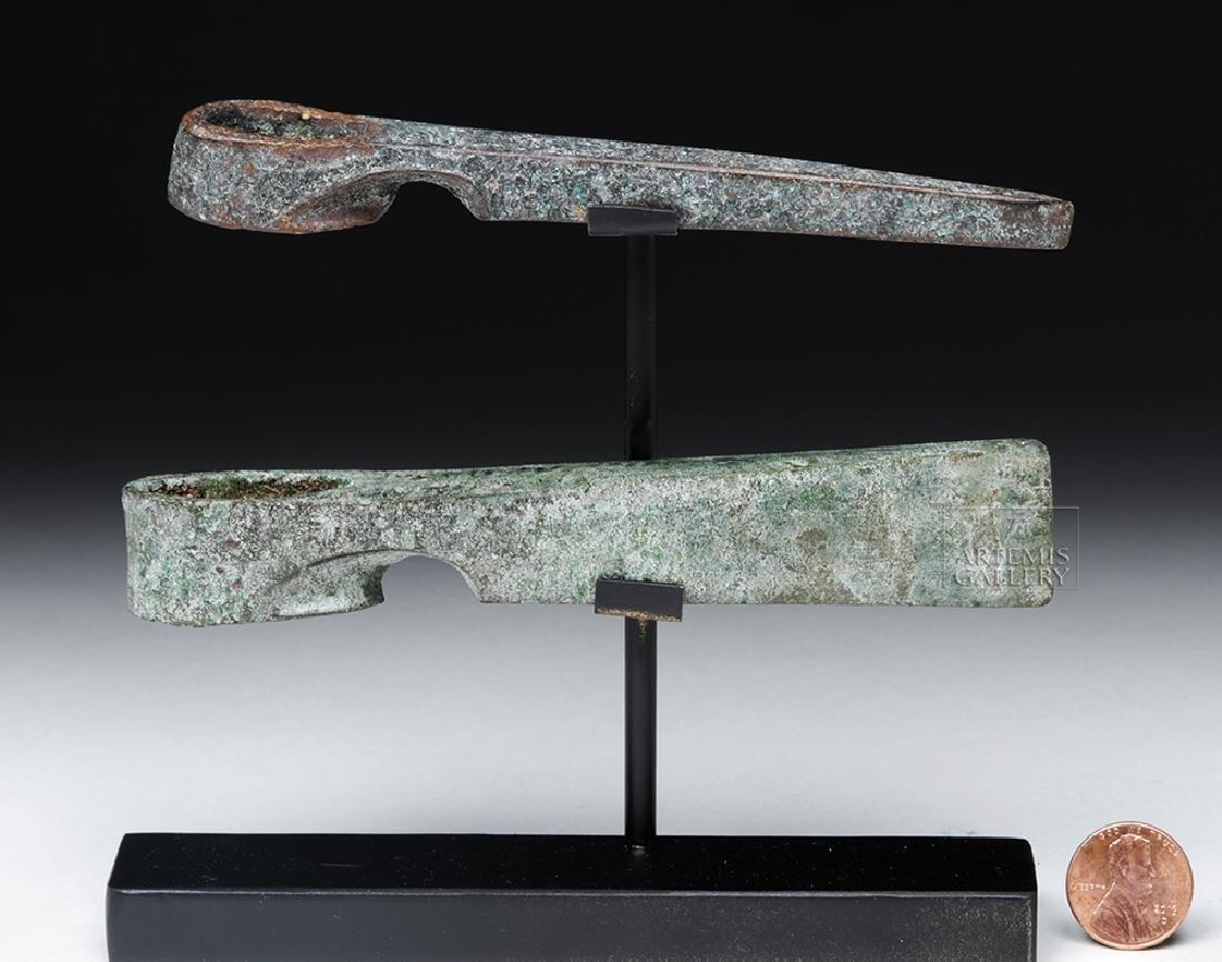 Lot of 2 Canaanite Bronze Axe Heads - 6