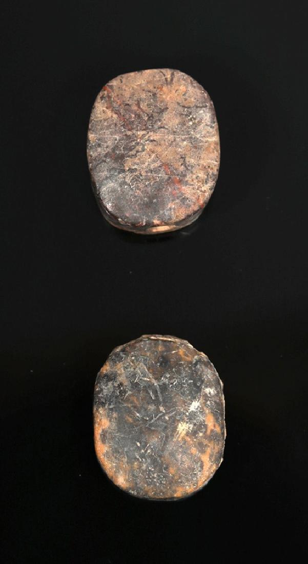 Pair of Near-Eastern Terracotta Scaraboid Seals - 3