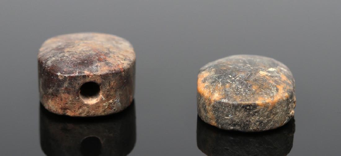 Pair of Near-Eastern Terracotta Scaraboid Seals - 4