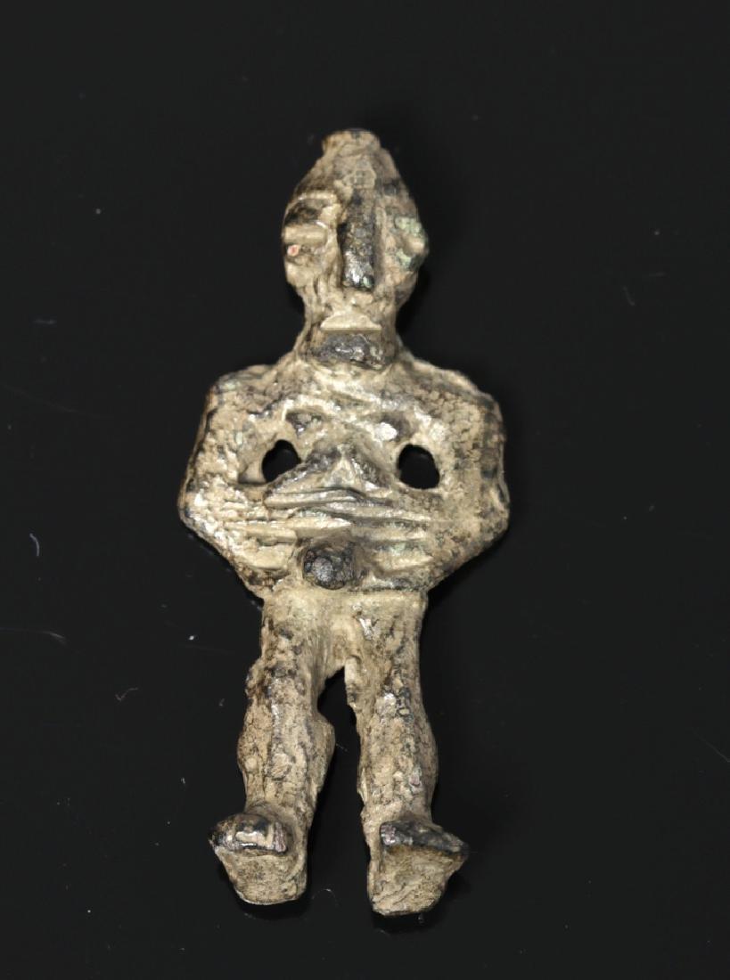 Ancient Dagestan Bronze Male Idol