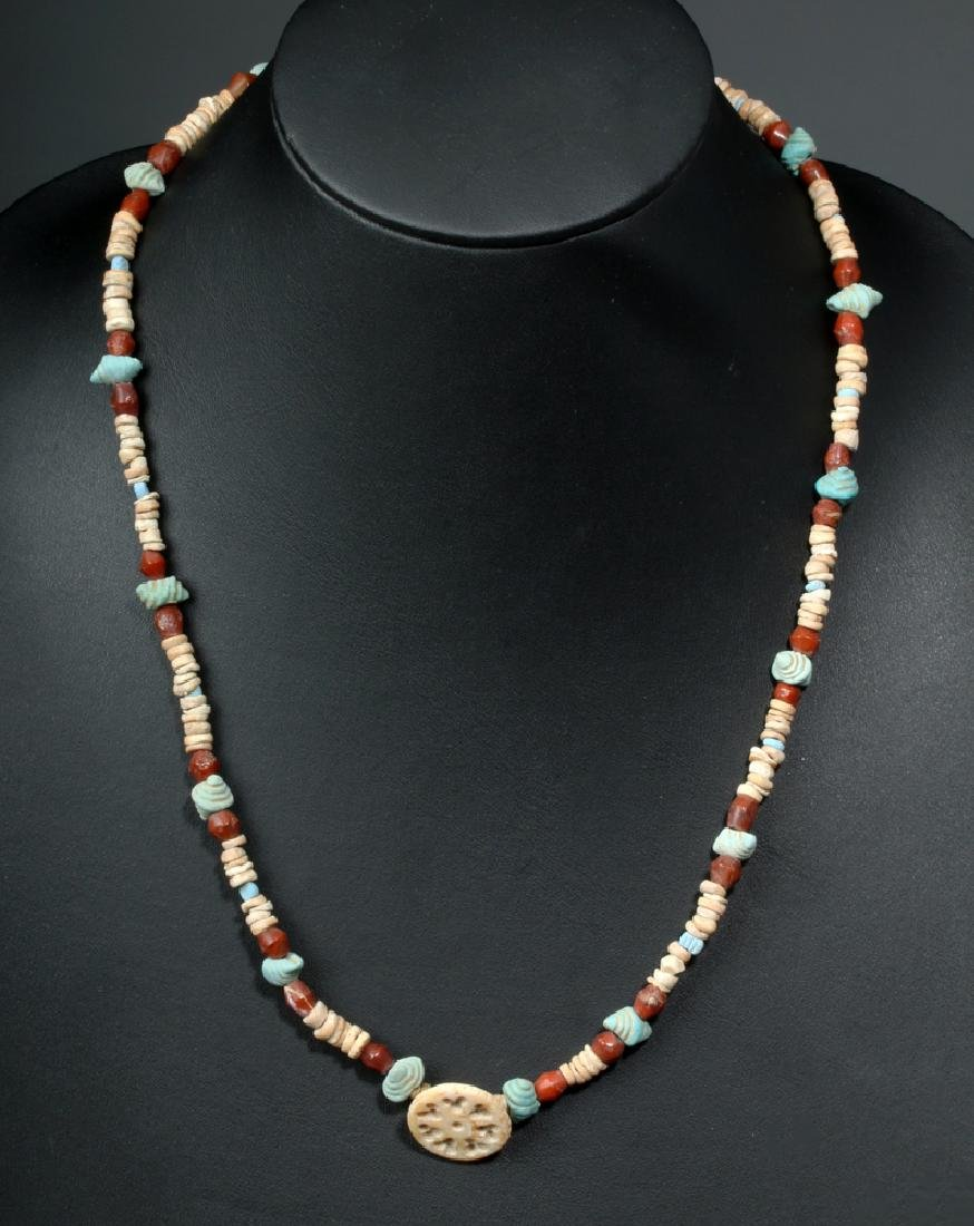 Ancient Bactrian Carnelian / Faience Necklace