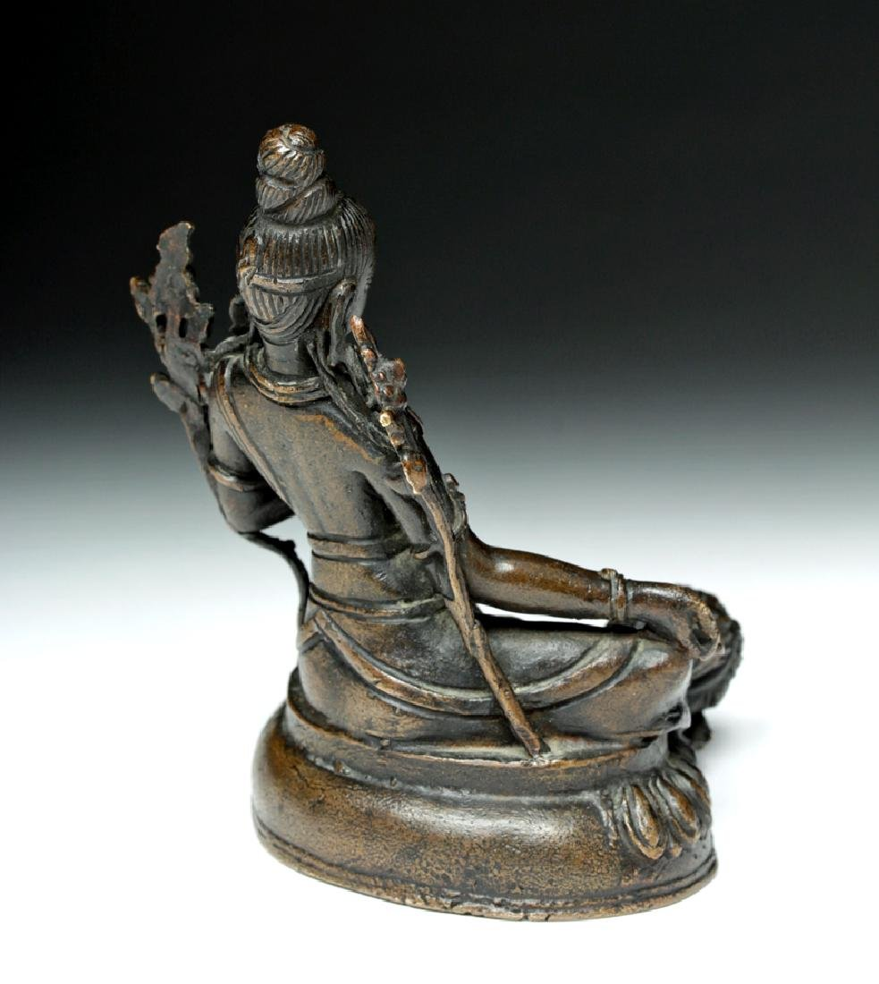 Sino Tibetan Bronze Seated Goddess - Tara - 4