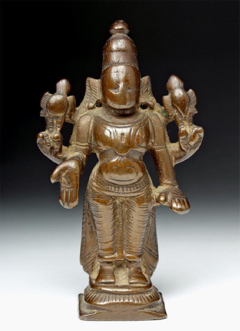 19th C. Indian Bronze Standing Vishnu