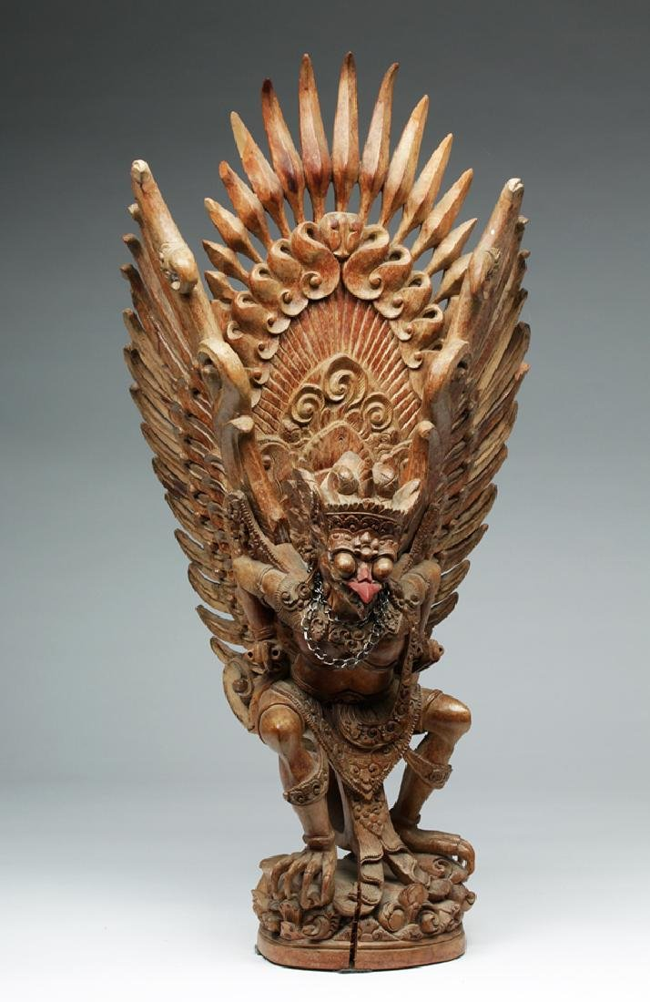 Fabulous 20th C. Indonesian Carved Wooden Garuda - 3