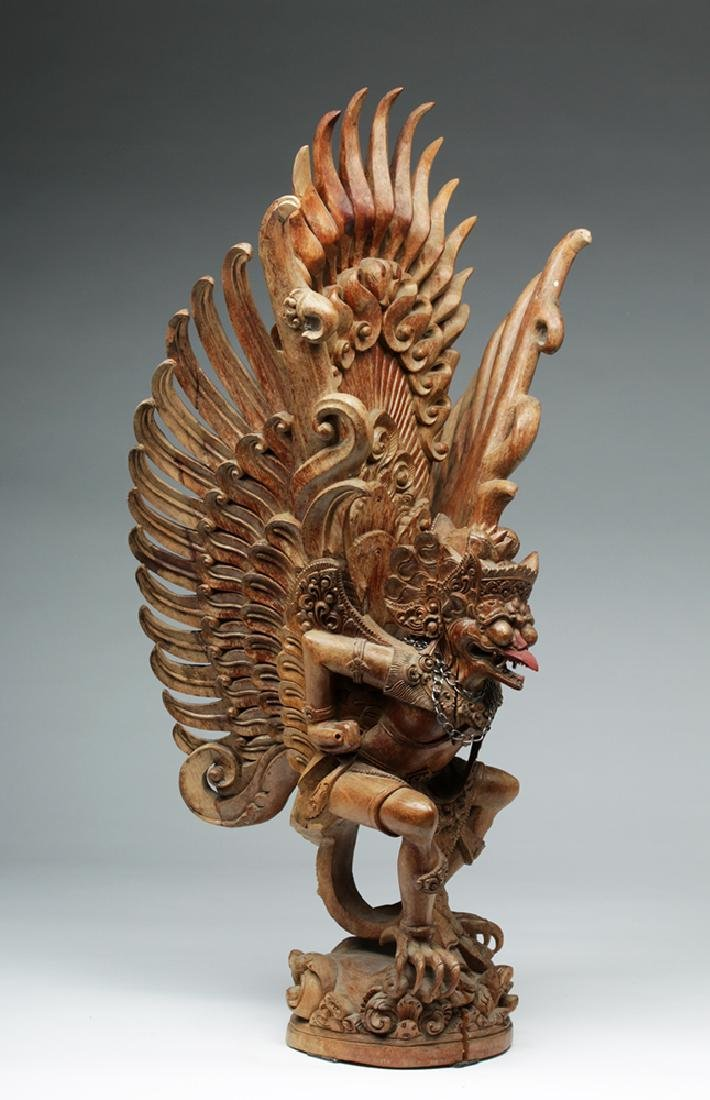 Fabulous 20th C. Indonesian Carved Wooden Garuda - 4