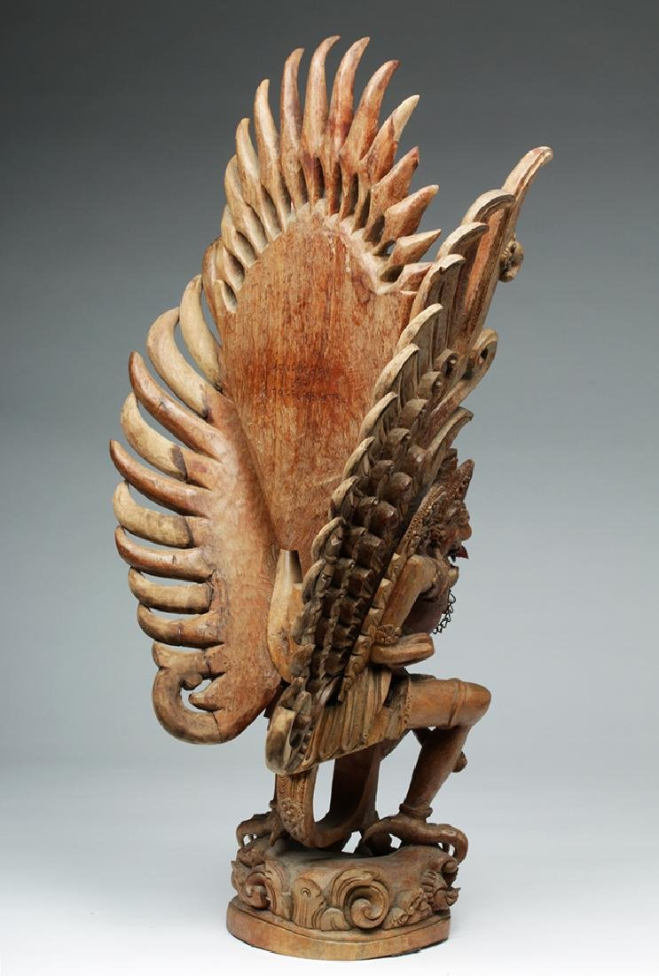 Fabulous 20th C. Indonesian Carved Wooden Garuda - 5